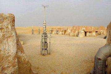 Abandoned Star Wars Tattooine Luke Skywalker sets Rä di Martino