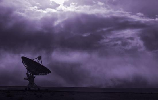 Radio Telescope Scans the Sky