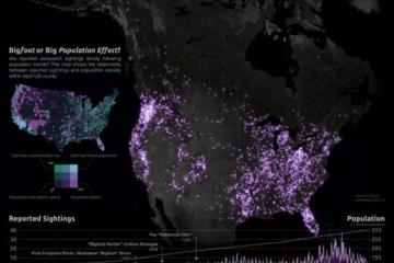 Map of All Bigfoot/Sasquatch Sightings in the United States