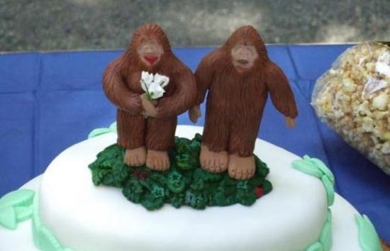 Bigfoot Wedding Cake