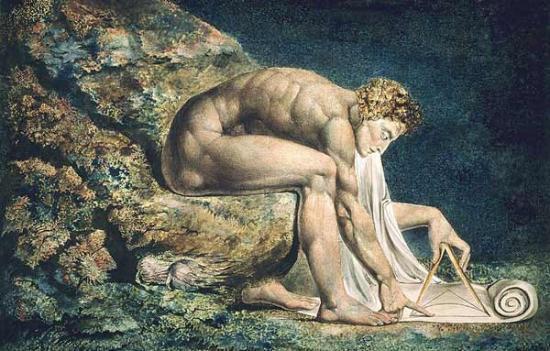 William Blake's Painting of Sir Isaac Newton