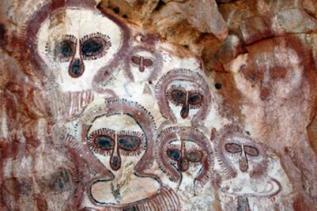 Wandjina in Aboriginal Rock Art