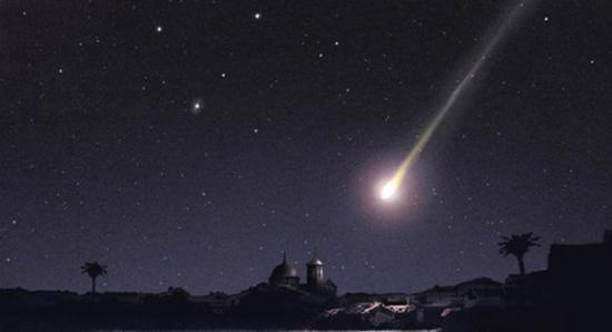 Meteor illustration by Concejalía de Cultura del Ayto