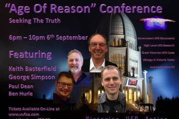 Age of Reason VUFOA UFO flying saucer Westall Valentich