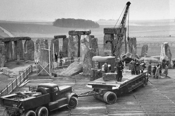 Restoration work on Stonehenge