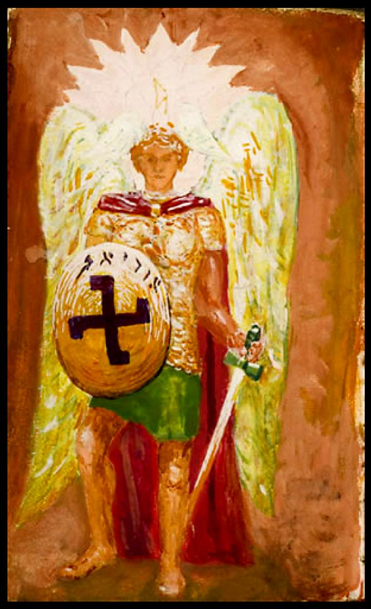 Archangel Michael from the Golden Dawn notebook of William Butler Yeats