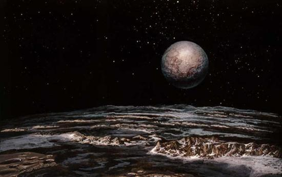 Pluto, painted by Don Dixon, 1979