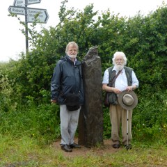 Ley Hunters Club founders Jimmy Goddard and Philip Heselton at Blackwardine Cros