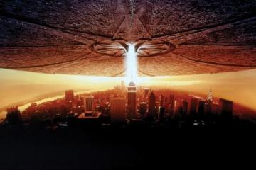 Alien attack in the movie Independence Day