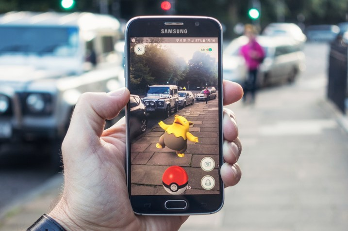 Augmented reality in Pokemon Go