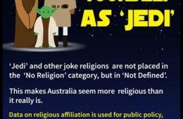 Jedi atheist census Australia Force Waaahmbulance