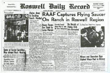 Roswell UFO Newspaper Headline