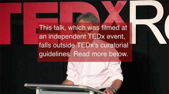 Disclaimer on TEDx Talk by Graham Hancock
