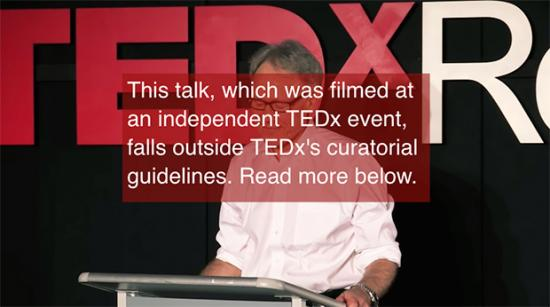 Disclaimer on TEDx Talk by Graham Hancock