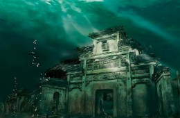 Underwater city of city of Shicheng, China