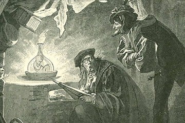Alchemical creation of a homonculus