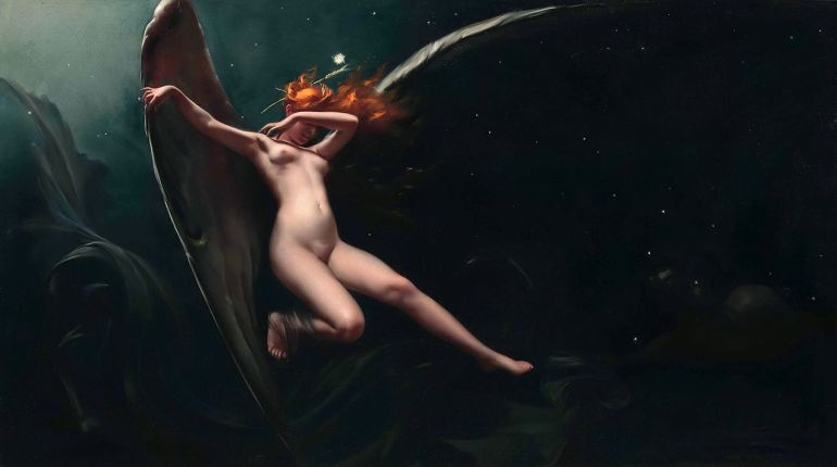 A Fairy Under Starry Skies, by Luis Ricardo Falero