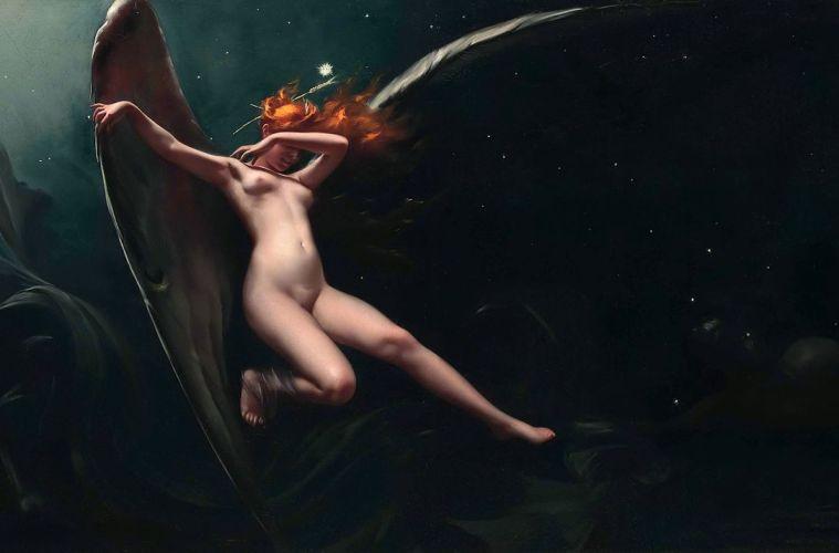 A Fairy Under Starry Skies, by Luis Ricardo Falero