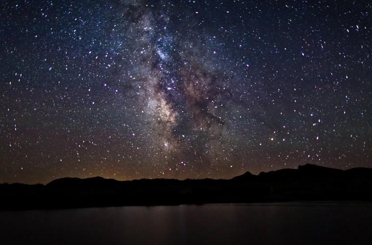 Milky Way and stars at night