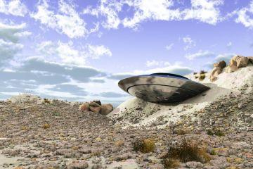 Crashed Flying Saucer