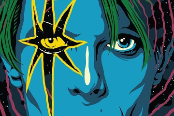 Cropped image from the cover of Jason Heller's 'Strange Stars'