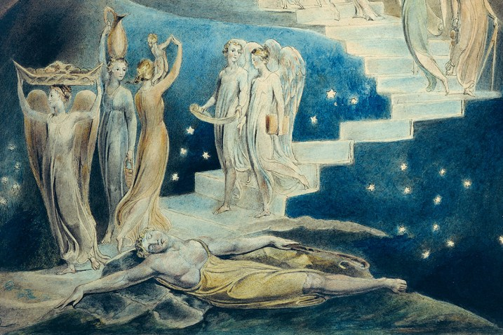 Section of William Blake's painting of Jacob's dream