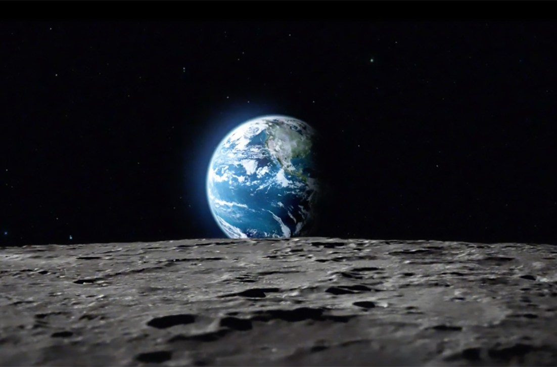 Earth-rise, as seen from the Moon