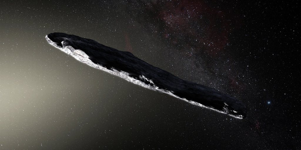 'Oumuamua cigar-shaped comet