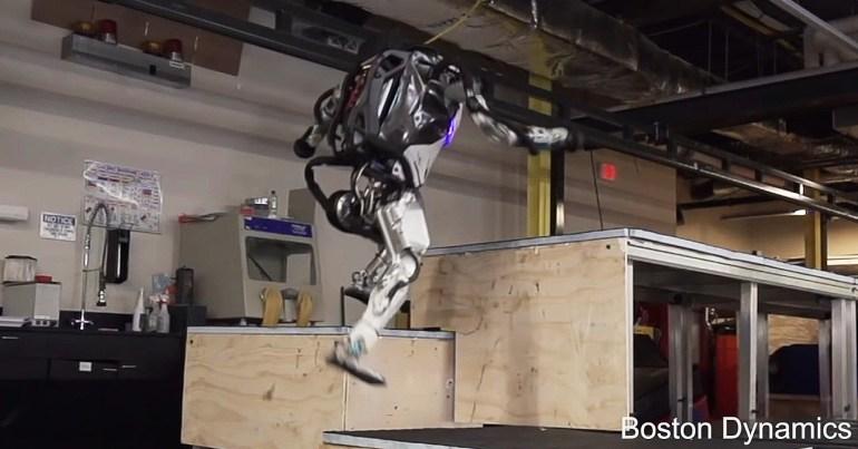 Boston Dynamics' Atlas robot does Parkour