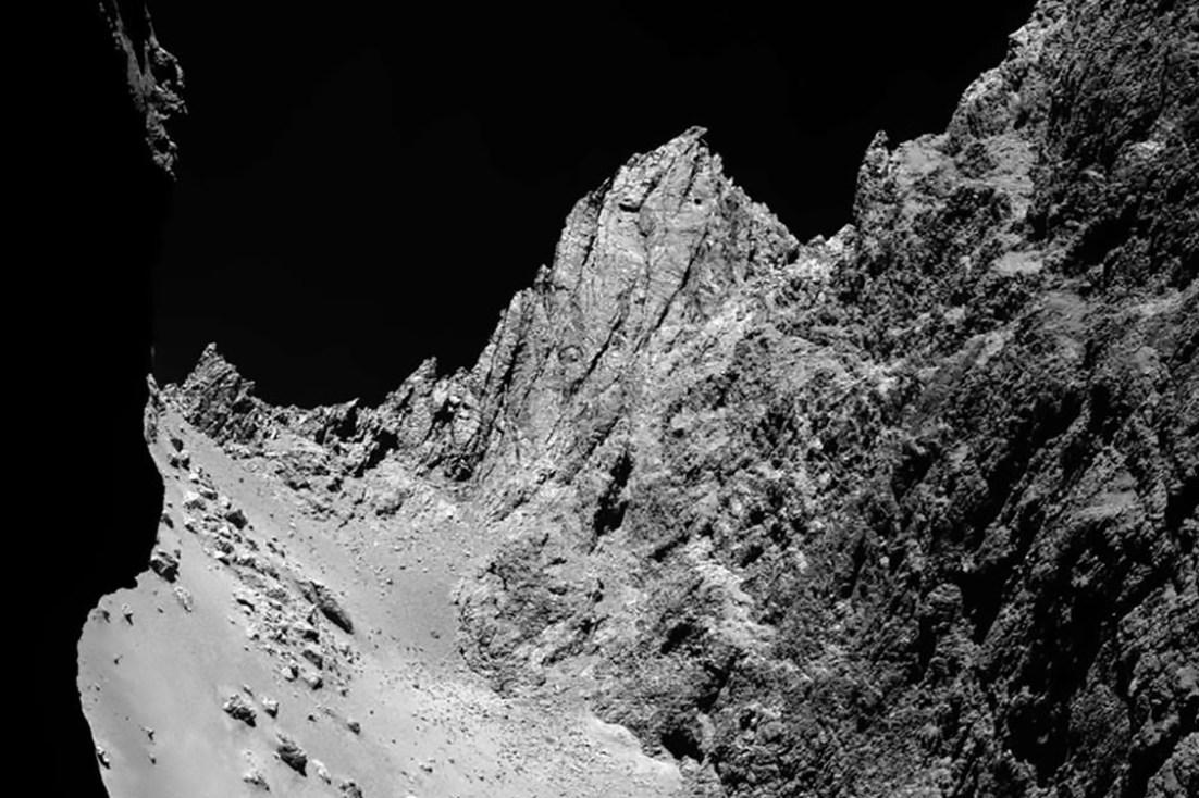 Comet 67P/Churyumov-Gerasimenko, imaged by Rosetta spacecraft