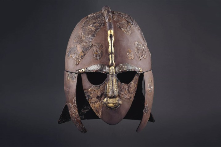 Reconstructed helmet from Sutton Hoo