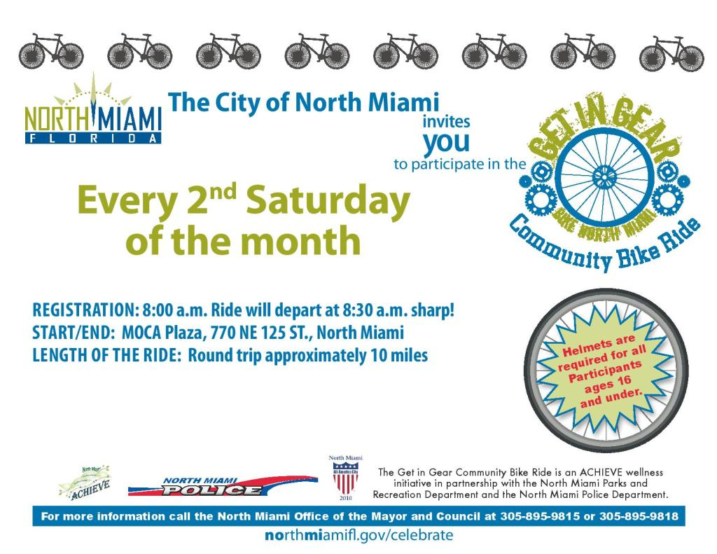 Get in Gear Community Bike Ride @ MOCA Plaza | North Miami | Florida | United States