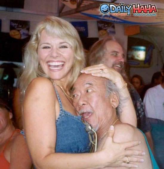 Mr Miyagi loves boobs