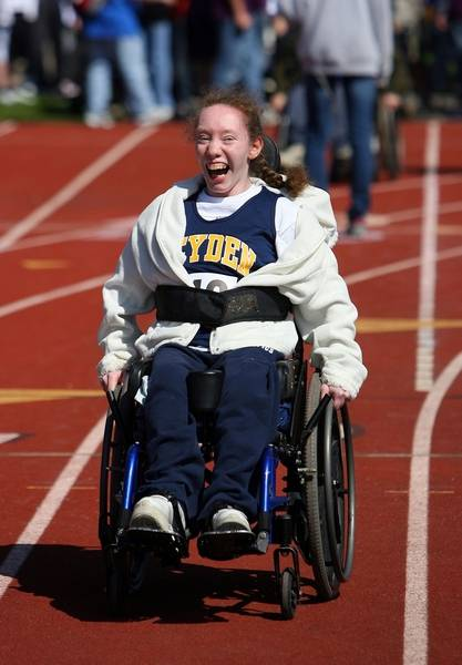 wheelchair olympics chair slipcovers kmart skills emotions high at special mary foley 20 of northlake competes in a race during the