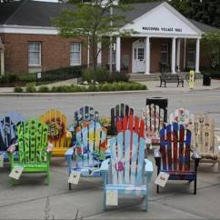 Paint For Adirondack Chairs Dxracer Chair Accessories Wauconda Storeowners Use Art Project As Downtown Painted Along Main Street In The By Local
