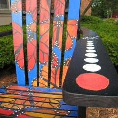 Painted Adirondack Chairs Futon Chair Cushion Covers Wauconda Storeowners Use Art Project As Downtown One Of The Sits Along Main Street In