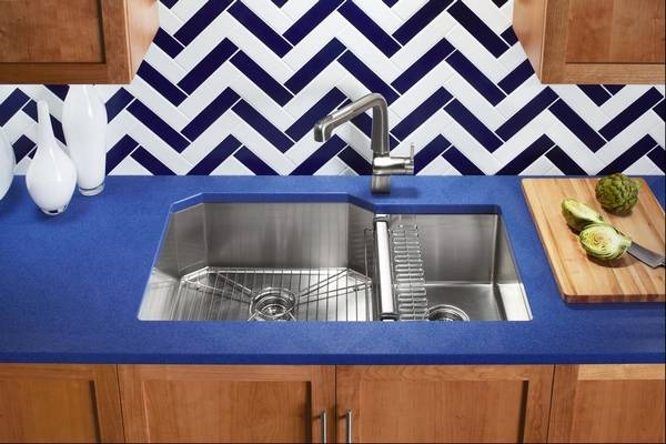 new kitchen sink recycled glass countertops a deep question about