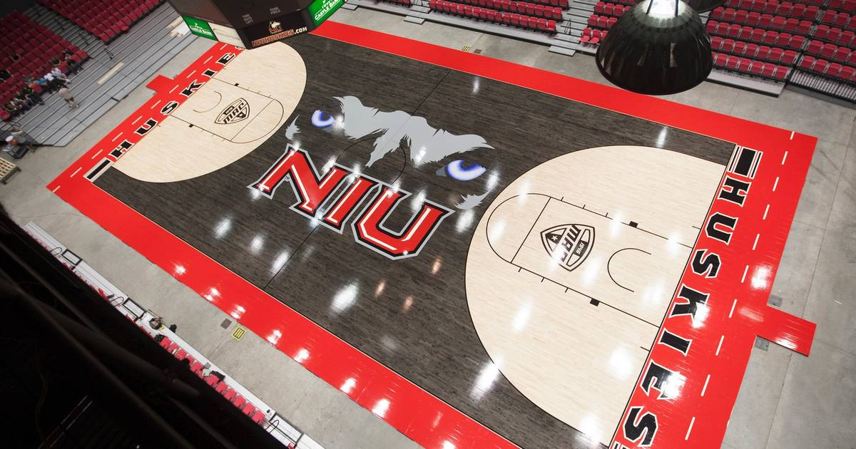 NIUs basketball court gets a new look