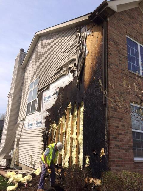 Fire from natural gas leak damages two Bartlett homes