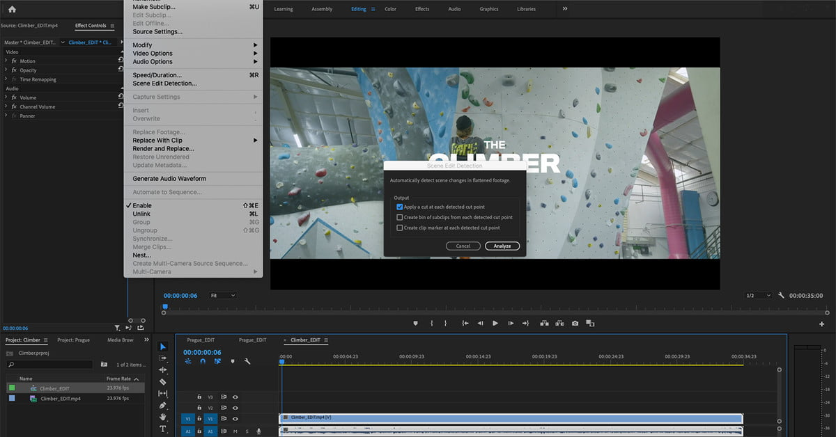 Adobe Premiere Pro Can Now Use A.I. To Separate Clips