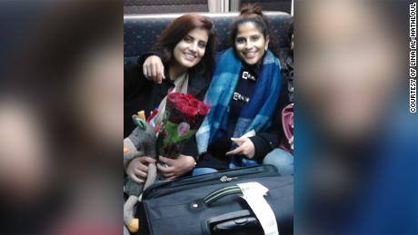 Al-threaded Hathloul and sister Loujain pictured in undated photo from Brussels by train.