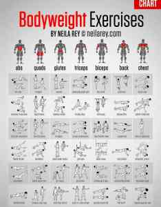 Get fit without weights bodyweight exercises chart also daily rh dailyinfographic