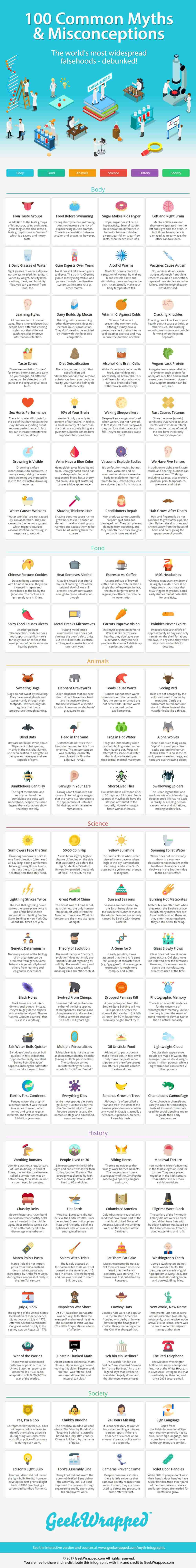 medium resolution of 100 common myths and misconceptions