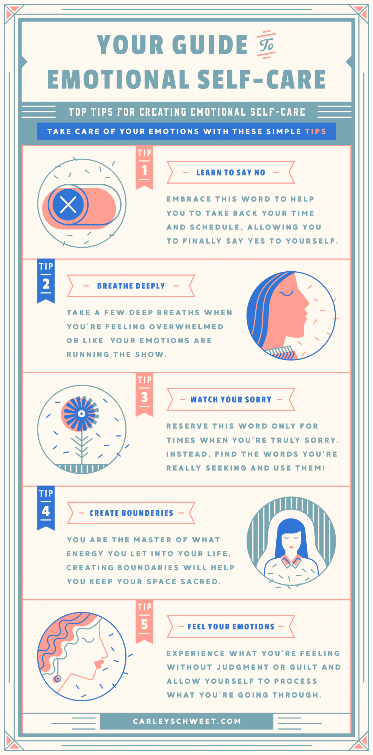 A Gentle Guide To Emotional Self Care Infographic