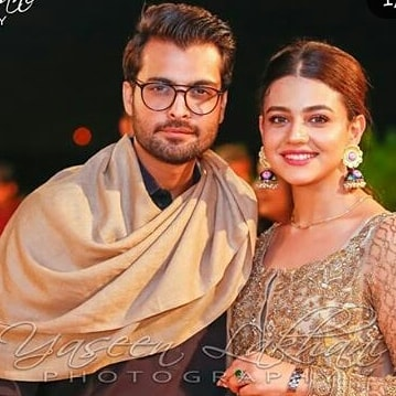 Awesome Couple Zara Noor Abbas and Asad Siddique at a Wedding Event