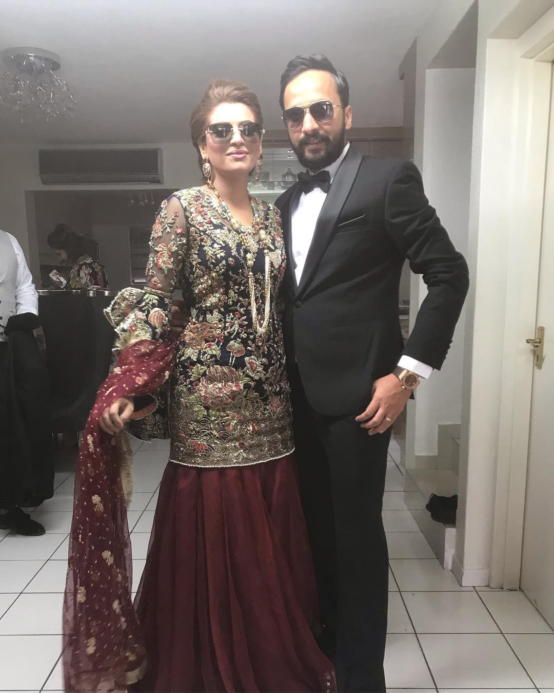 Benita David with her Husband at a Wedding Event in South Africa