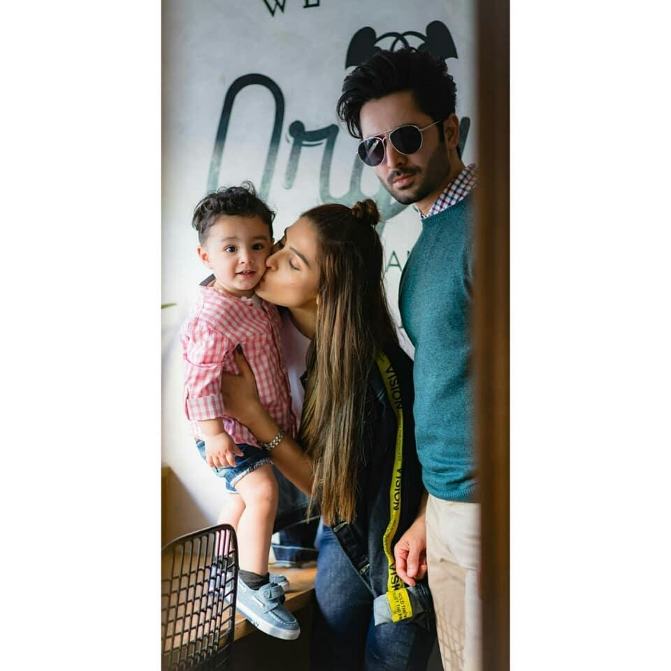 Danish Taimoor Celebrates Birthday with his Awesome Wife Ayeza Khan and kids Hoorain and Rayyan