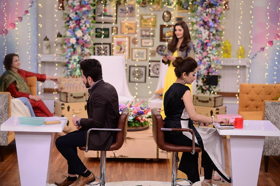 Saba Faisal with her Son and Daughter in Law in Nida Yasir Morning Show