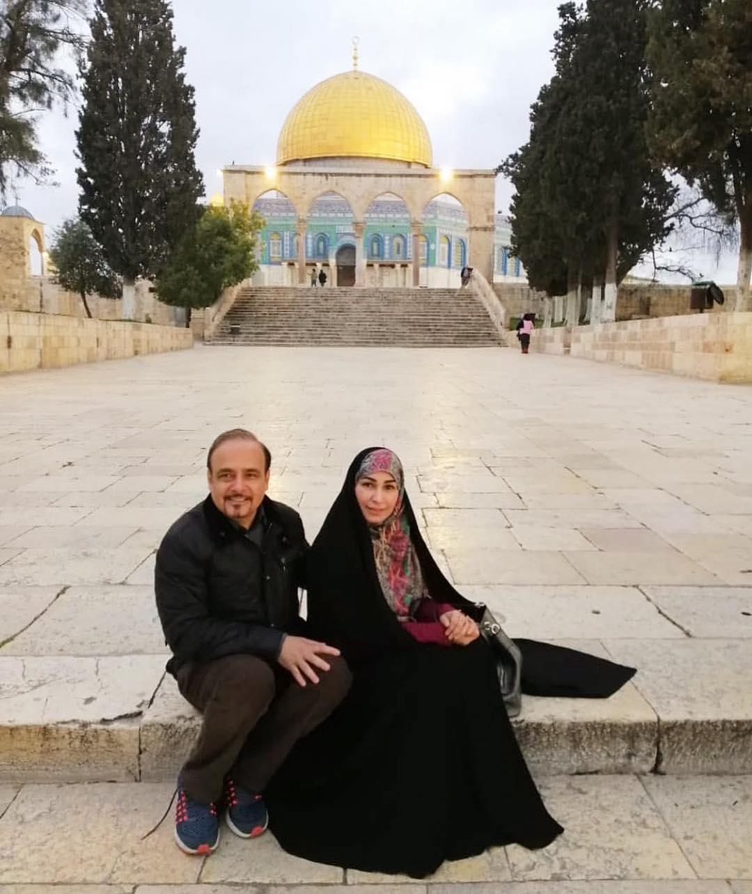 Reema with her Husband Visited Masjid Al Aqsa Jerusalem