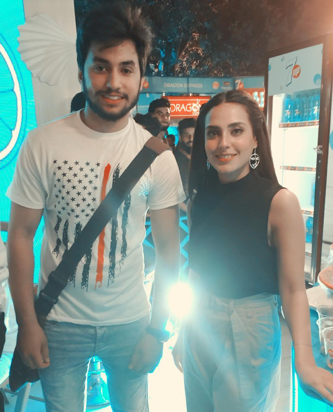 Iqra Aziz and Yasir Hussain at 7up Foodies Festival